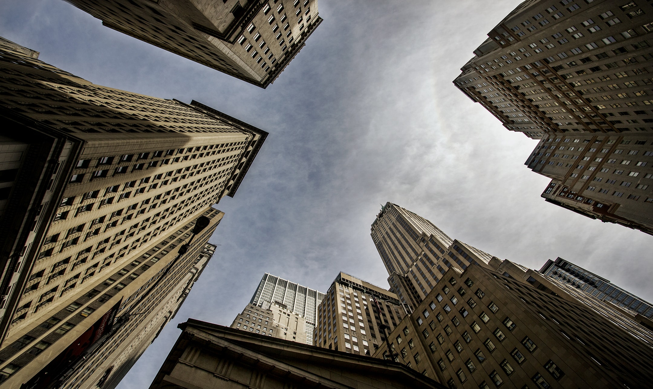 Wall St New York City by Marcus W K Wong